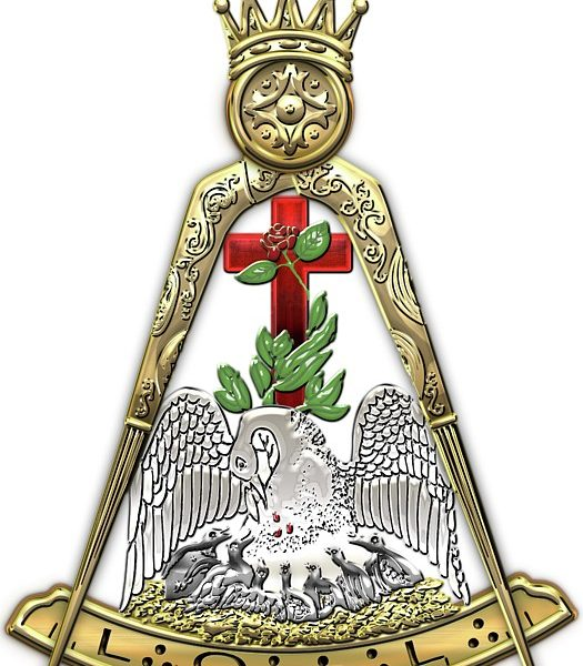 18th degree mason knight rose croix masonic jewel serge averbukh transparent