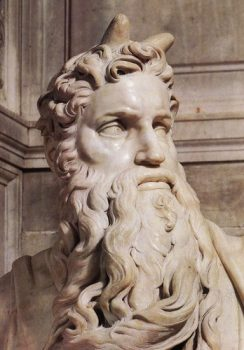 moses detail by michelangelo buonarroti