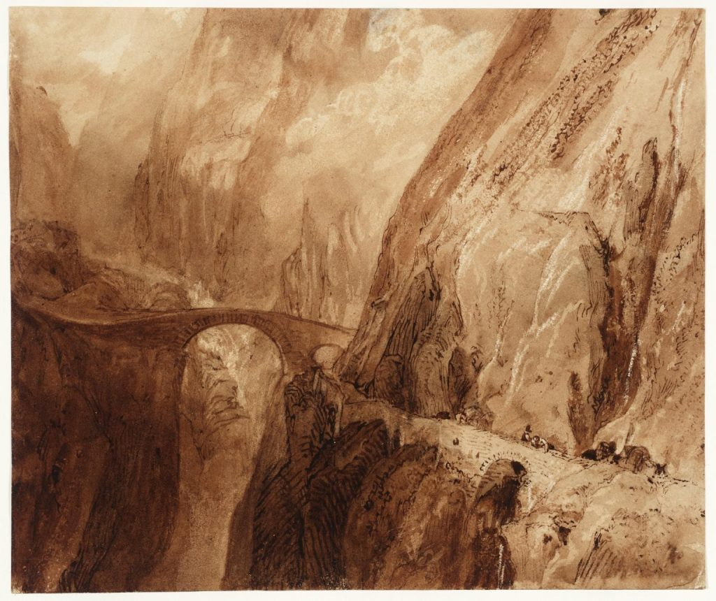 J.M.W. Turner, Podul diavolului. Muntele St. Gothard (1806)